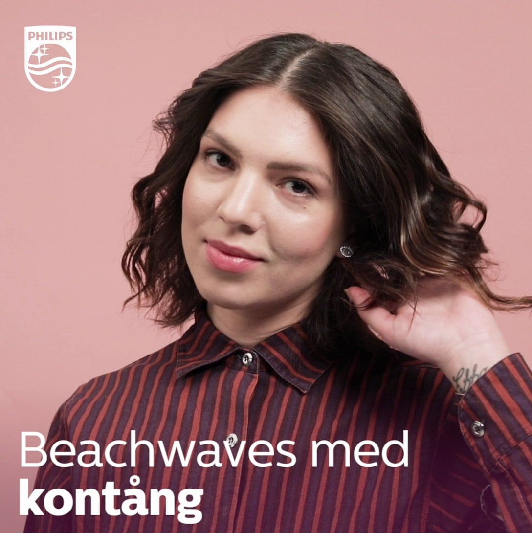 Beachwaves med Philips kontång